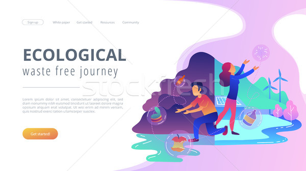 Ecological and waste free journey landing page. Stock photo © RAStudio