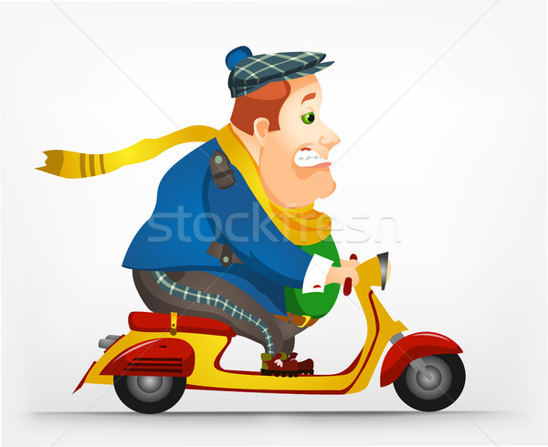 Cheerful Chubby Man Stock photo © RAStudio