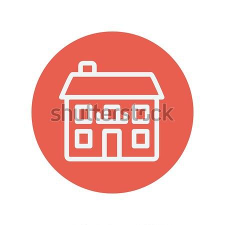 Retro flat house thin line icon Stock photo © RAStudio