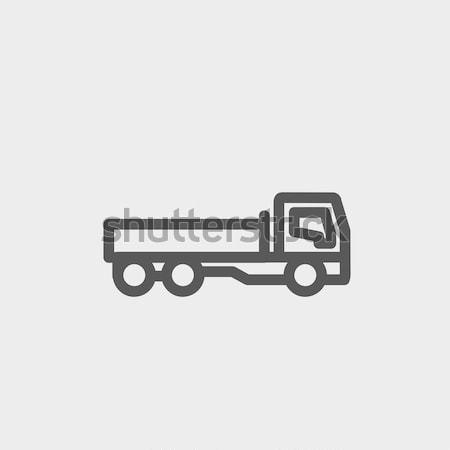 Dump truck icon drawn in chalk. Stock photo © RAStudio