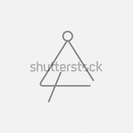Triangle icon drawn in chalk. Stock photo © RAStudio