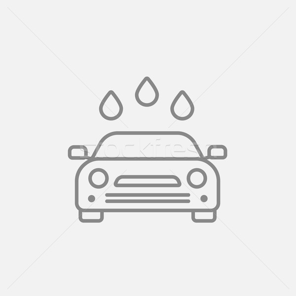 Car wash lijn icon web mobiele infographics Stockfoto © RAStudio