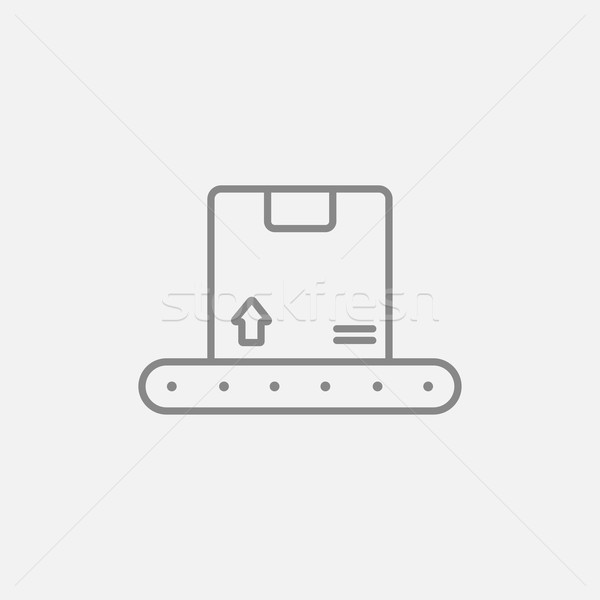 Conveyor belt for parcels line icon. Stock photo © RAStudio