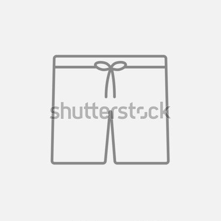 Swimming trunks line icon. Stock photo © RAStudio