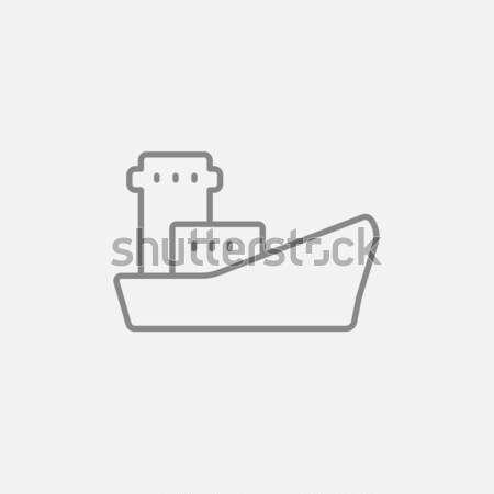 Cargo container ship line icon. Stock photo © RAStudio