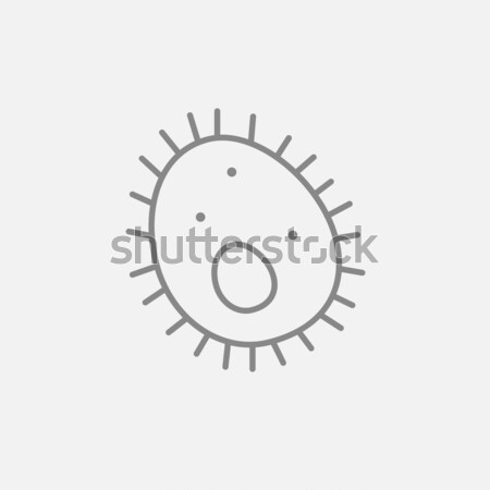 Bacteria line icon. Stock photo © RAStudio