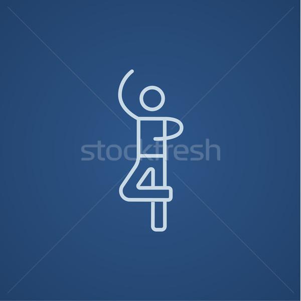 Stock fotó: Férfi · alkat · görkorcsolyázó · vonal · ikon · háló