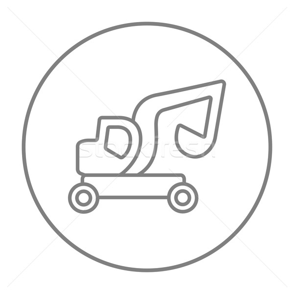 Excavadora camión línea icono web móviles Foto stock © RAStudio