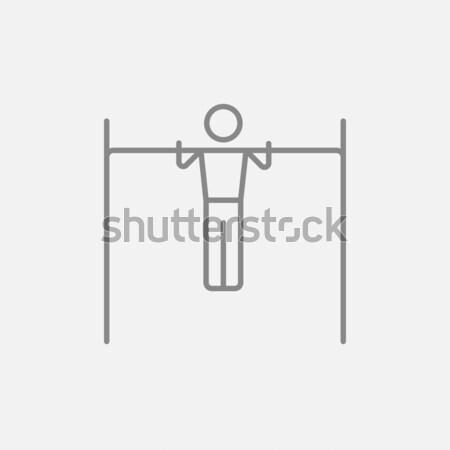 Gimnastyk bar line ikona Zdjęcia stock © RAStudio