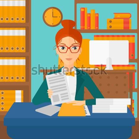 менеджера файла азиатских человека ресурсы чтение Сток-фото © RAStudio