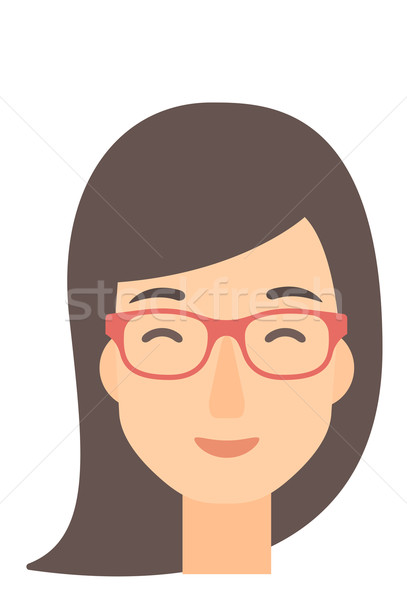 Pleased woman with her eyes closed. Stock photo © RAStudio