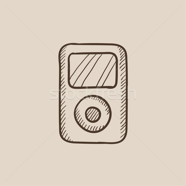 MP3-Player Skizze Symbol Web mobile Infografiken Stock foto © RAStudio
