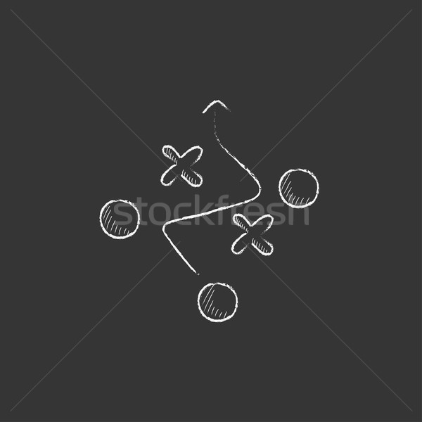 Tactical plan. Drawn in chalk icon. Stock photo © RAStudio