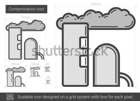Refinery plant line icon. Stock photo © RAStudio