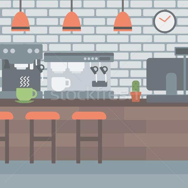 Kávéház vektor terv illusztráció tér elrendezés Stock fotó © RAStudio