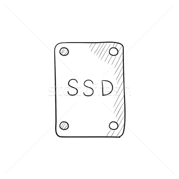 Solid state drive sketch icon. Stock photo © RAStudio