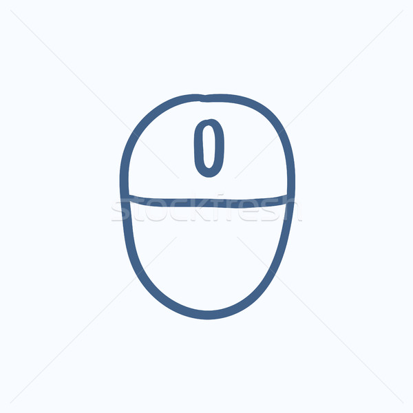Computer mouse sketch icon. Stock photo © RAStudio
