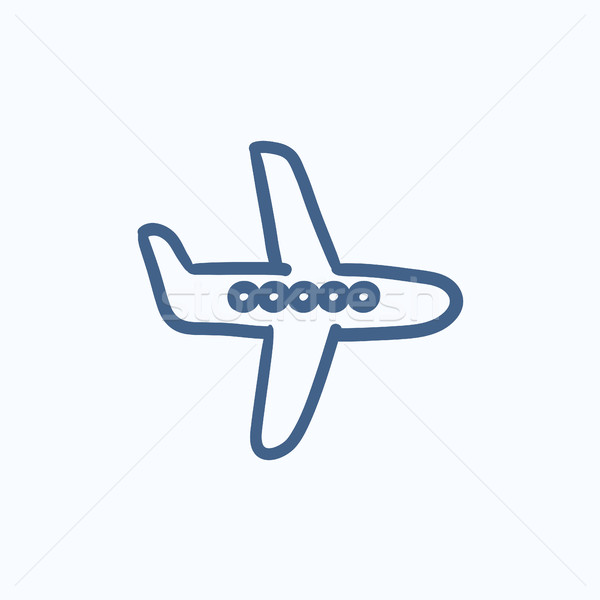 Flying airplane sketch icon. Stock photo © RAStudio