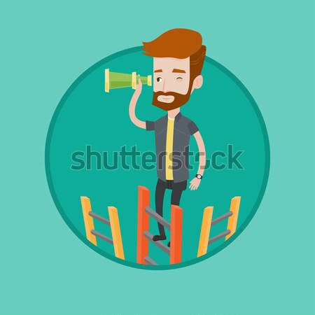 Man searching opportunities for business growth. Stock photo © RAStudio