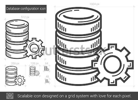 Database configuration line icon. Stock photo © RAStudio