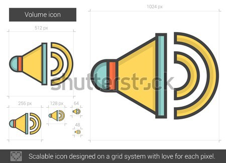 Volume ligne icône vecteur isolé blanche Photo stock © RAStudio