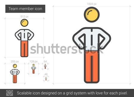 Team member line icon. Stock photo © RAStudio