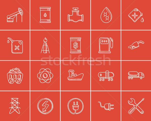 Stockfoto: Ecologie · schets · web · mobiele · infographics