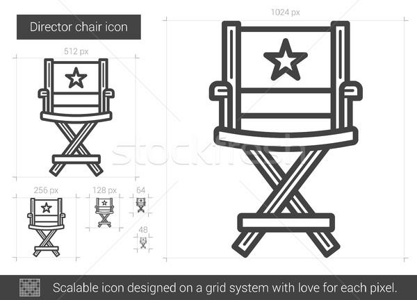 Diretor cadeira linha ícone vetor isolado Foto stock © RAStudio