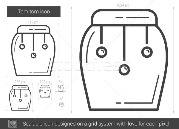 Tom tom line icon. Stock photo © RAStudio