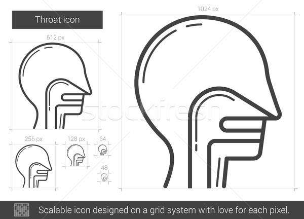 Stock photo: Throat line icon.