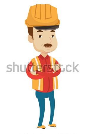 Adult confident miner vector illustration. Stock photo © RAStudio