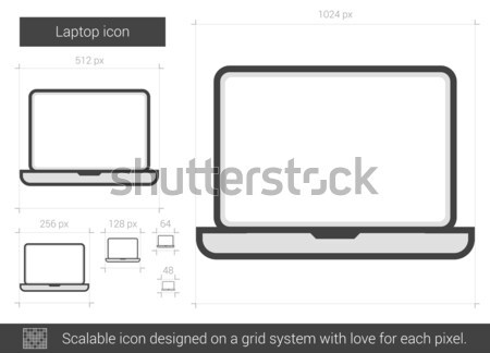 Desktop line icon. Stock photo © RAStudio