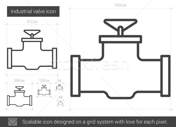 Industrial válvula linha ícone vetor isolado Foto stock © RAStudio