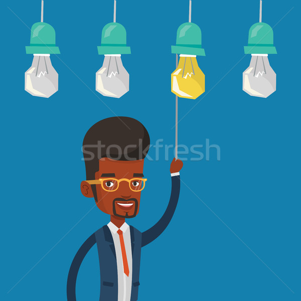 Man having business idea vector illustration. Stock photo © RAStudio