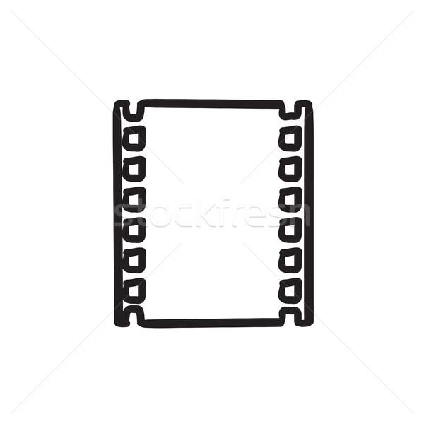 Negatieve schets icon vector geïsoleerd Stockfoto © RAStudio