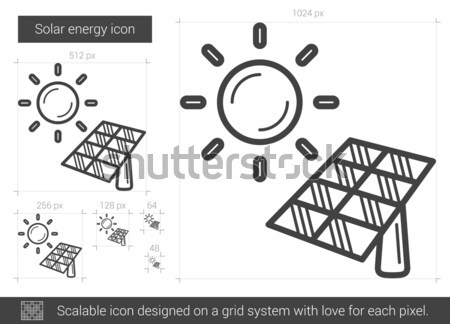 Solar energy line icon. Stock photo © RAStudio