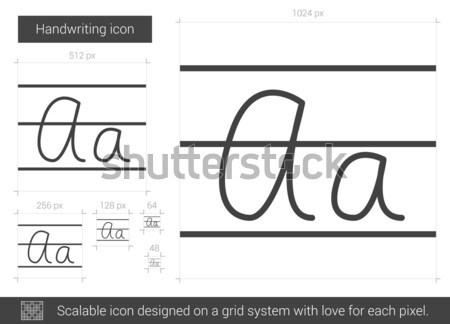 handwriting line icon vector illustration 169 andrei