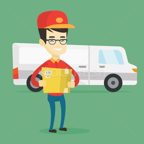 Livraison courrier carton cases asian Photo stock © RAStudio