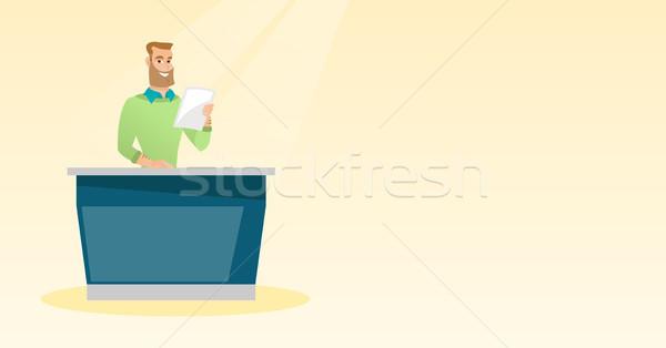 Televízió stúdió dolgozik fiatal kaukázusi áll Stock fotó © RAStudio