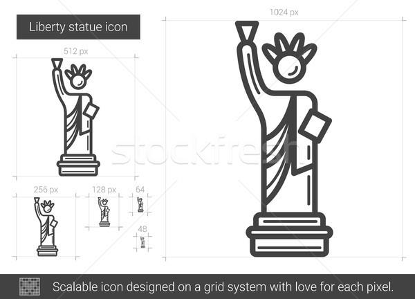 Liberty statue line icon. Stock photo © RAStudio