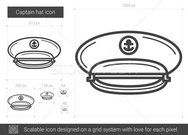 Captain hat line icon. Stock photo © RAStudio
