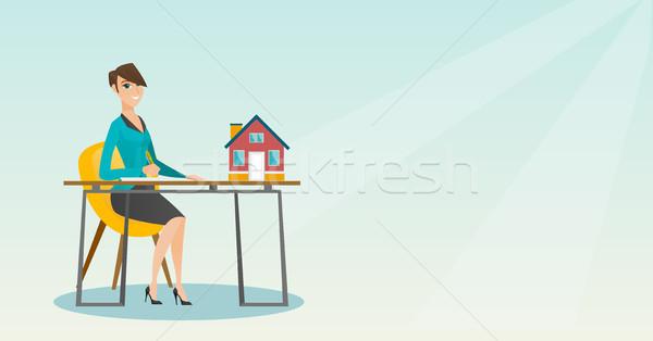 подписания домой купить договор сидят Сток-фото © RAStudio