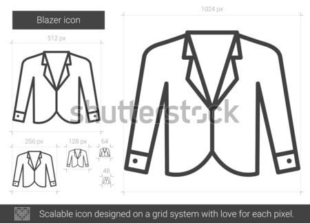 Blazer ligne icône vecteur isolé blanche Photo stock © RAStudio