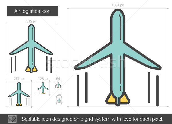 Air logistic line icon. Stock photo © RAStudio