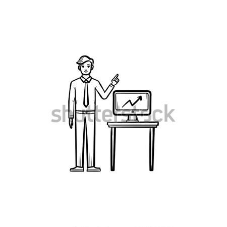Biznesmen umowy wesoły turban Zdjęcia stock © RAStudio