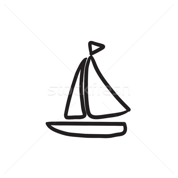 Sailboat sketch icon. Stock photo © RAStudio