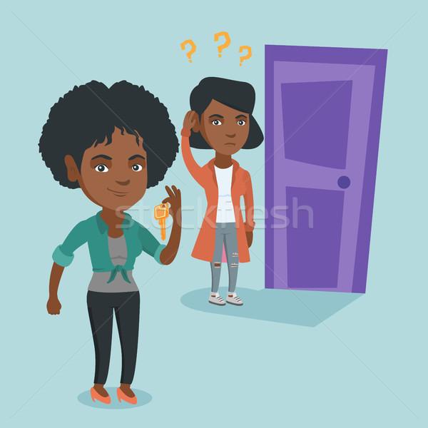 ストックフォト: 右 · 決定 · ビジネス · 小さな · ビジネス女性