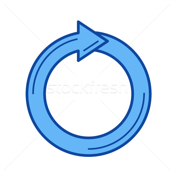 Recycling line icon. Stock photo © RAStudio