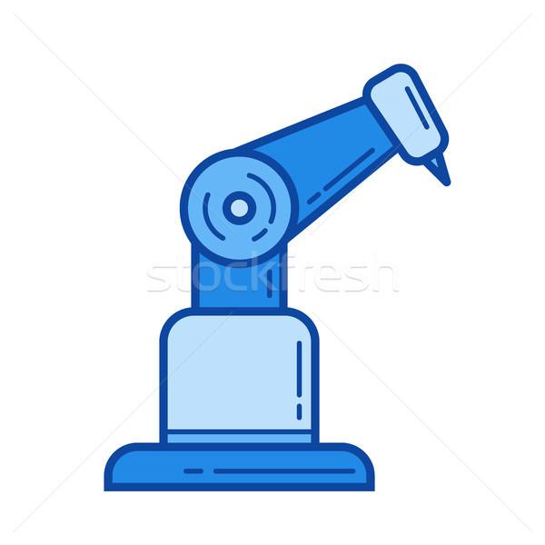 Industrial robot line icon. Stock photo © RAStudio