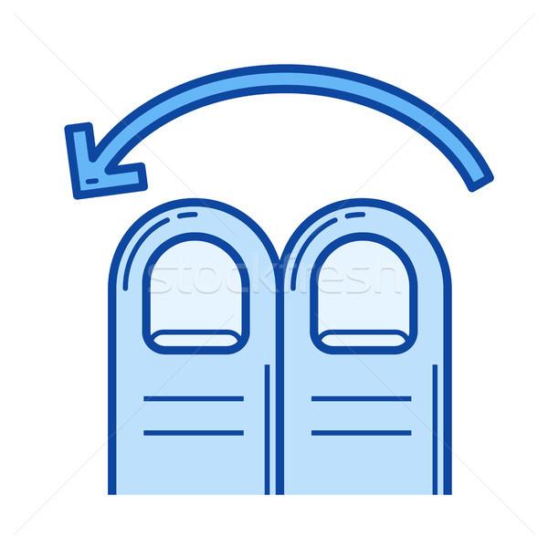 Two-finger swipe left line icon. Stock photo © RAStudio